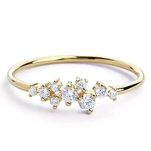 Jewelry - Brand New Minimalist Cubic Zirconia Gold Ring